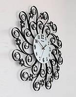 Часы настенные из металла - солнечный протуберанец