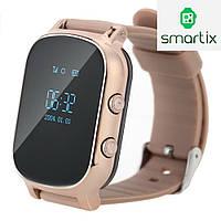 Подростковые умные смарт часы Smart watch T58 с GPS трекером для отслеживания (золото). Русский язык! Киев.