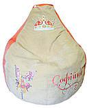 Детское Кресло, бескаркасное мешок, бескаркасная груша, мягкий пуф ФЕИ WINX, фото 4