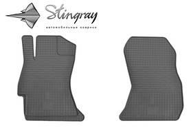 Резиновые коврики в салон Subaru XV 2012- (2 шт) Stingray 1029012