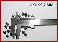 Кнопка тактовая, 6х6х4,3мм, DIP-4.
