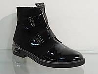 Ботинки молодежные лак/замша, фото 1