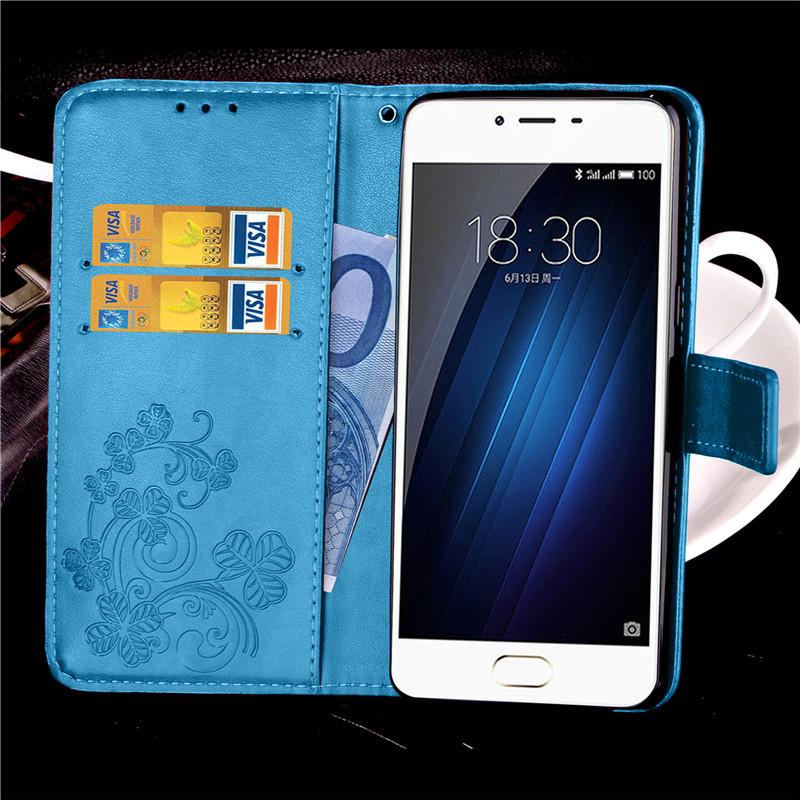 Чехол Clover для Meizu M3 / M3s / M3 mini книжка кожа PU женский голубой