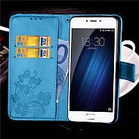 Чехол Clover для Meizu M3 / M3s / M3 mini книжка кожа PU женский голубой, фото 1