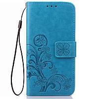 Чехол Meizu M3 / M3s / M3 mini книжка Clover blue женский