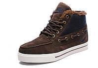 Мужские зимние кроссовки Nike High Top Fur Brown