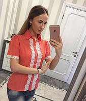 Рубашка с коротким рукавом Мод. 21089