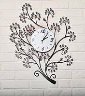 Часы настенные из металла - веточка