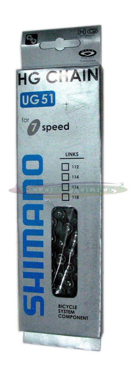 ЦЕПЬ SHIMANO  UG-51.116 звеней на 7-скоростей.