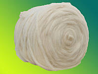 Гребенная лента Сливер белый, кросбред 50г