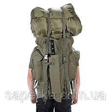 Рюкзак военный полевой 65 литров олива. Mil-tec Германия 14023001, фото 3