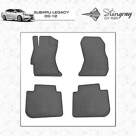 Резиновые коврики в салон Subaru Legacy 2006- (4 шт) Stingray 1029014