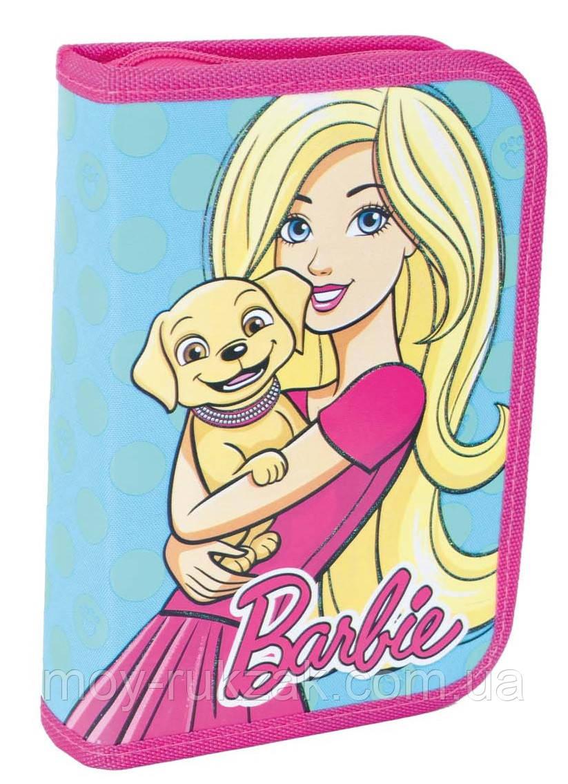"""Пенал твёрдый одинарный с двумя клапанами """"Barbie mint"""" 1 Вересня 531370"""