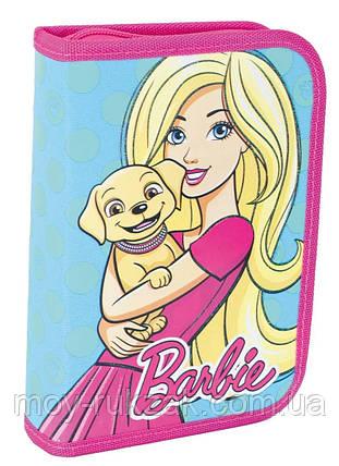 """Пенал твёрдый одинарный с двумя клапанами """"Barbie mint"""" 1 Вересня 531370, фото 2"""