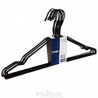 Вешалки (плечики)  металлические черного цвета, 44 см, 10 шт в упаковке