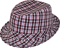 Шляпа  детская Клетка красивая на мальчика, девочку  для праздника или утренника  в детский сад, клетчатая