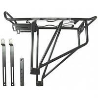 Багажник для велосипеда на трех трубах алюминиевый черный. Велосипедный багажник. Велобагажник. Багажник вело.