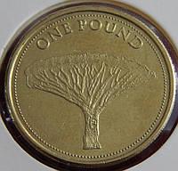 Монета Гибралтара. 1 фунт 2015 год