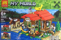 Конструктор Lele серия My World 33020 Домик у озера 3в1 (аналог Lego Майнкрафт, Minecraft)