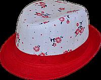 Шляпа  детская Квіточка красивая на мальчика, девочку  для праздника или утренника  в детский сад, клетчатая
