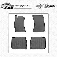 Коврики резиновые в салон Subaru Legacy c 2004 (4шт) Stingray