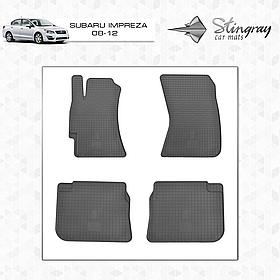 Резиновые коврики в салон Subaru Impreza 2008- (4 шт) Stingray 1029024