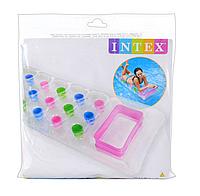 Надувной пляжный матрас стакан прозрачный | «Intex»