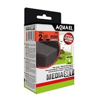 Aquael MEDIA SET CARBOMAX PAT mini filter вкладыш губка с активированным углем в фильтр Aquael Pat Mini Filter, 2шт