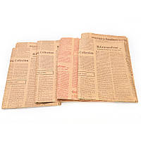 Упаковочная бумага Винтаж Газета