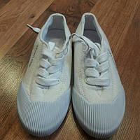 Белые кеды для девочек стелька 19 см