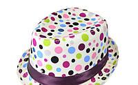 Шляпа  детская Радуга  на мальчика, девочку  для праздника или утренника  в детский сад, стильная в горох