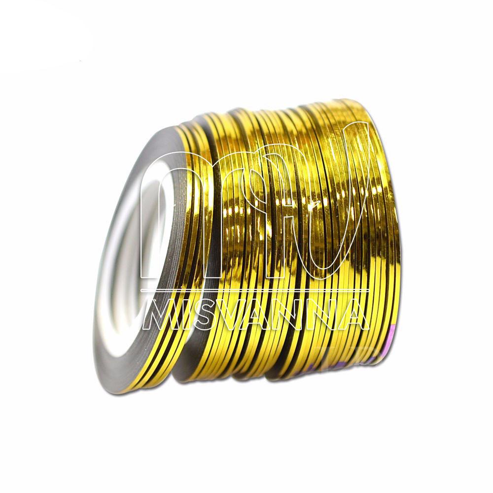 Лента-скотч для декора, 1 мм, золото