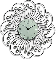 Часы из металла - цветок