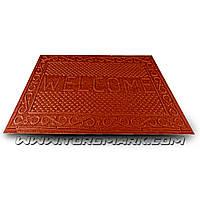 """Коврик резиновый с синтетическим покрытием """"WELCOME"""" 730 х 1165 мм красный"""