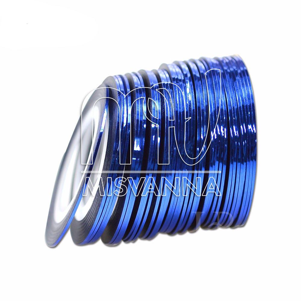 Лента-скотч для декора, 1 мм, синяя