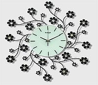 Часы из металла - полевые цветы
