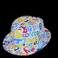 Шляпа  детская  Буквы на мальчика, девочку  для праздника или утренника  в детский сад, стильная, модная