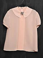Блузка креп-шифон персик