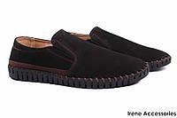 Стильные туфли мужские Sergio Billini нубук цвет черный (демисезонные, платформа, комфорт)