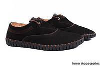 Стильные туфли мужские Sergio Billini нубук цвет черный (демисезонные, платформа, шнуровка, комфорт)