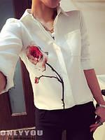 Блузка белая с розой р.С