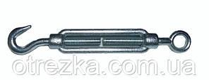 Стяжка кованная М8х110 мм. крюк/кольцо талреп