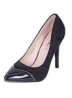 Классические замшевые женские туфли Лодочки