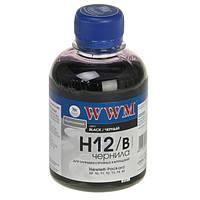 Чернила WWM HP 10/11/12/13/14/82/88, Black, 200 г (H12/B)