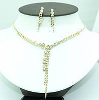 326. Ожерелья под золото +серьги, наборы бижутериии оптом на 7 км