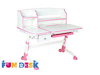 Детский стол-трансформер FunDesk Amare II with drawer Pink+лампа L2