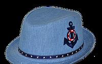 Шляпа детская Якорь на мальчика, девочку  для праздника или утренника в детский сад, стильная, модная  лен