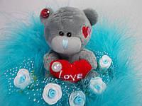 "Букет из мягкой игрушки  - Тедди ""Love"""