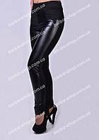 Модные женские лосины с эко-кожей, размер 40,42,44