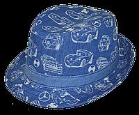 Шляпа  детская Автомобили стильная,  красивая на мальчика, девочку  для праздника или утренника  в детский сад